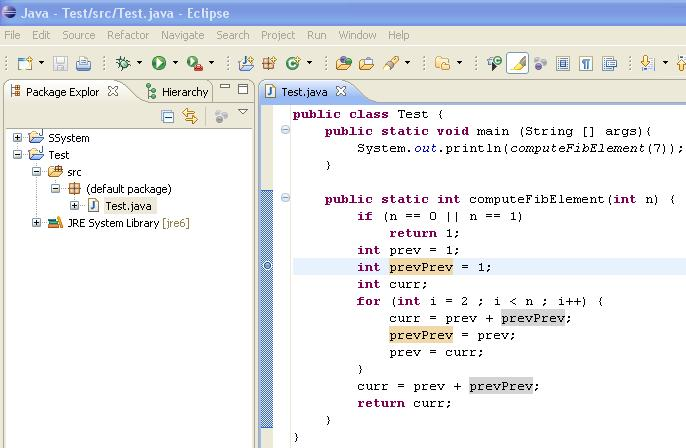 The debugger can be used to follow the program step by step and may help detecting bugs in an